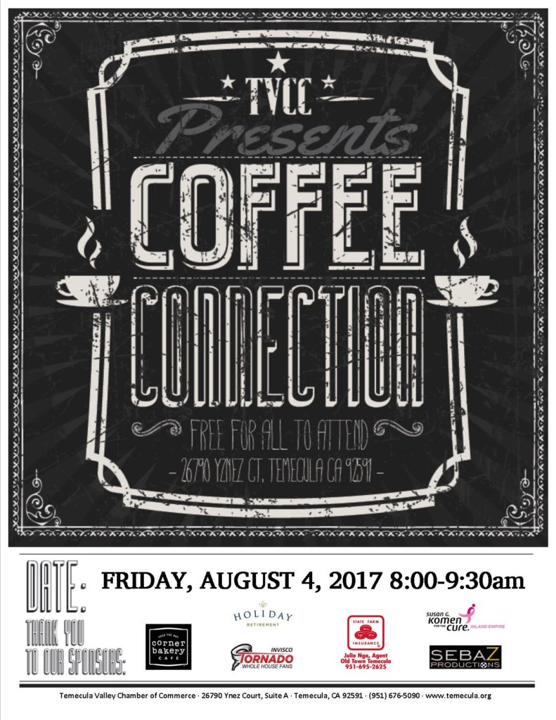 Coffee Conn AUG 2017 Flyer