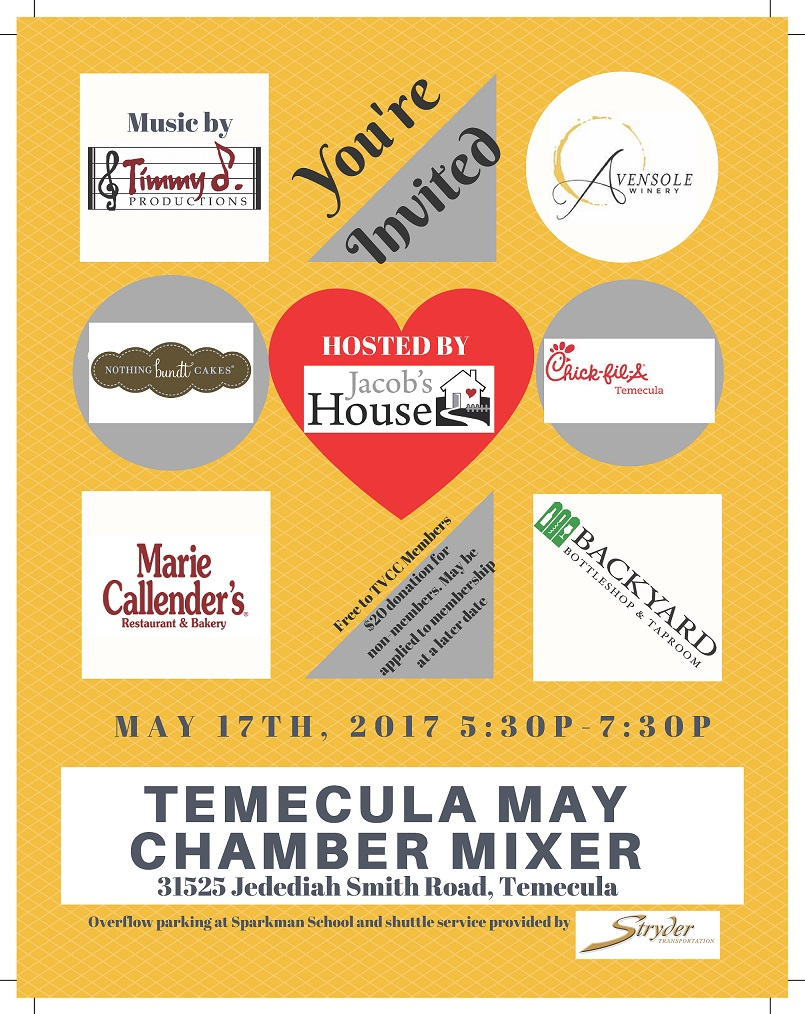 May Mixer at Jacob's House @ Jacob's House | Temecula | California | United States