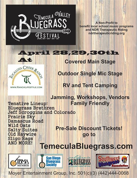 Temecula Valley Bluegrass Festival @ Tucalota Creek Ranch | Temecula | California | United States
