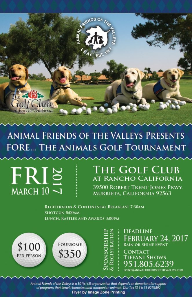 Fore...The Animals Golf Tournament @ The Golf Club at Rancho California | Murrieta | California | United States