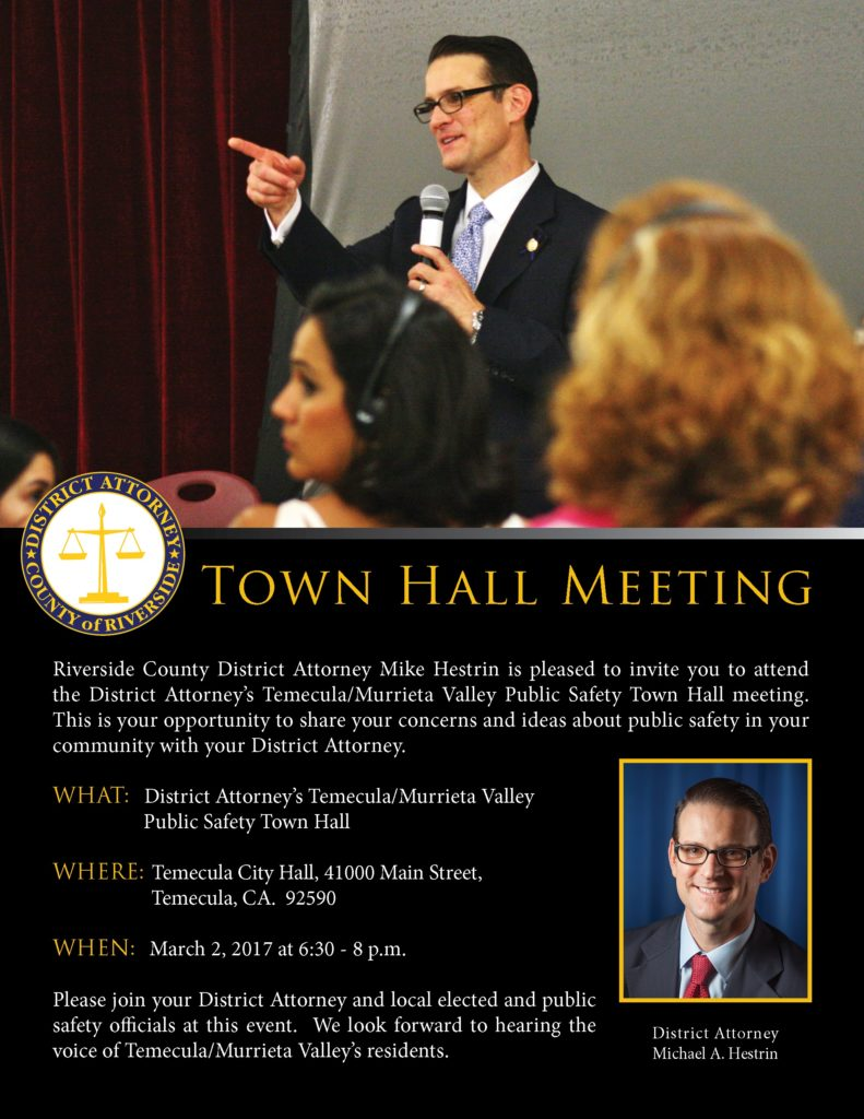 Town Hall Meeting @ Temecula City Hall | Temecula | California | United States