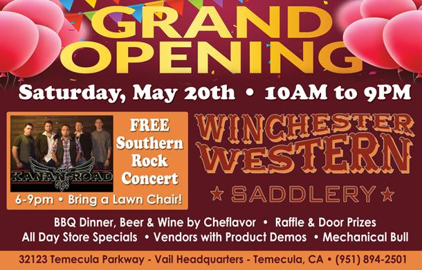 Ribbon Cutting - Winchester Western Saddlery @ Winchester Western Saddlery | Temecula | California | United States