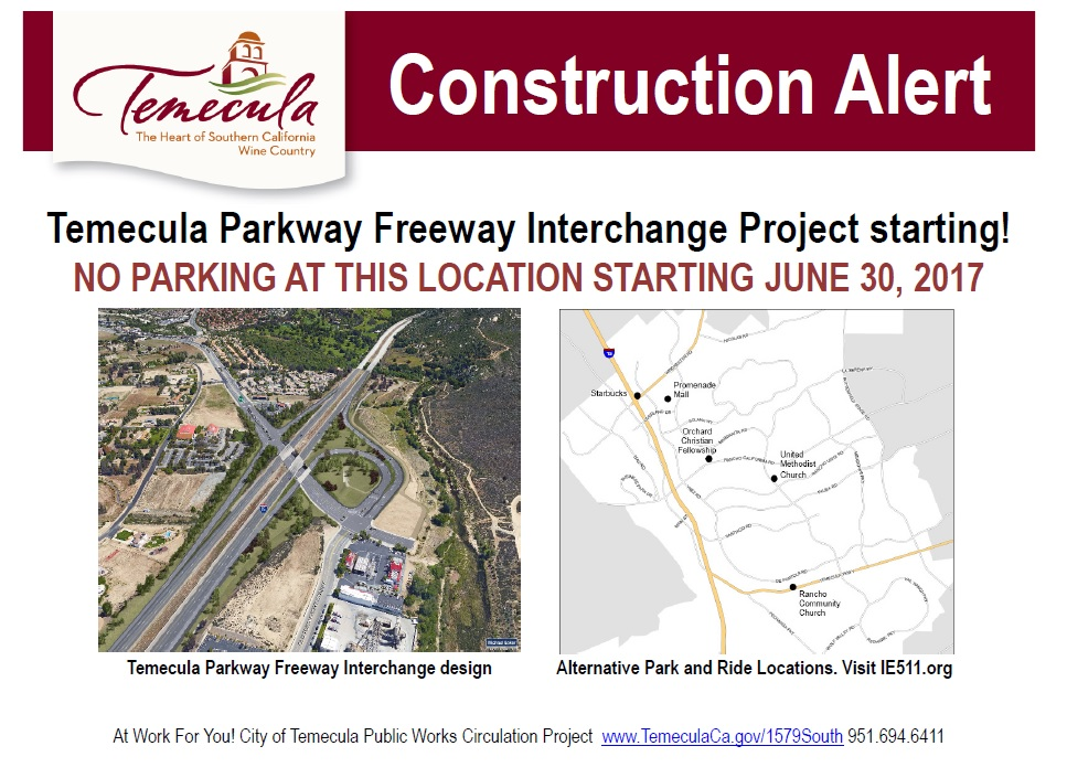 Construction Alert!!! @ Temecula Parkway | Temecula | California | United States