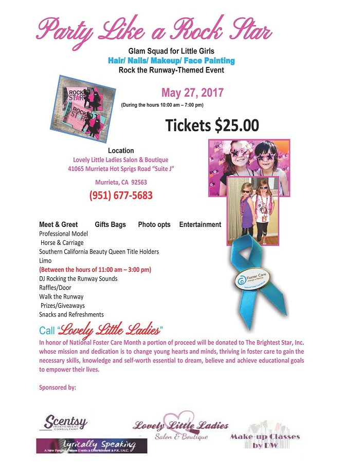 Party Like A Rock Star! Glam Squad For Little Girls Fundraiser @ Lovely Little Ladies Salon & Boutique | Murrieta | California | United States