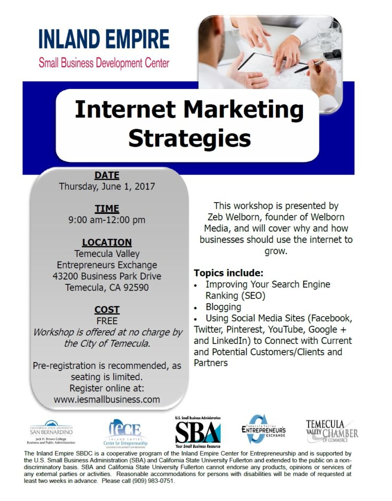 Internet Marketing Strategies @ Temecula Valley Entrepreneurs Exchange | Temecula | California | United States