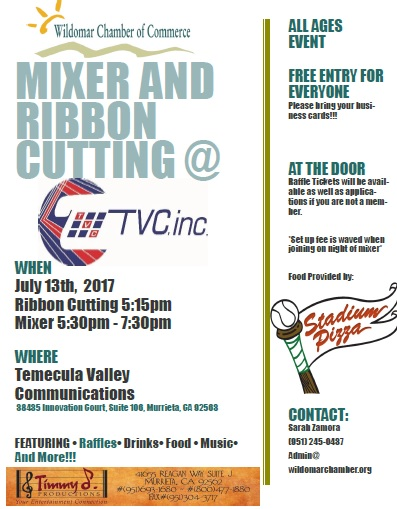 Ribbon Cutting-Temecula Valley Communications, Inc. (TVC) @ Temecula Valley Communications, Inc. | Murrieta | California | United States
