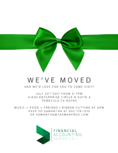 Ribbon Cutting - Financial Accounting Services, Inc. @ Financial Accounting Services, Inc. | Temecula | California | United States