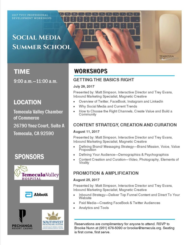 Social Media Summer School Flyer 2017