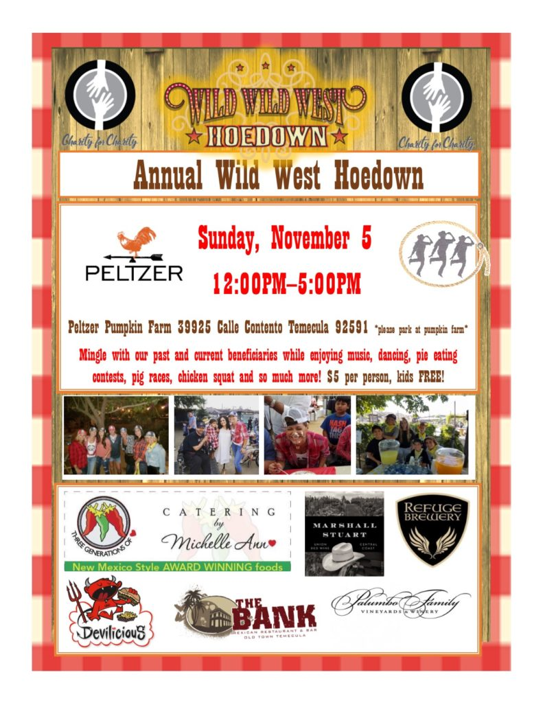 Annual Wild West Hoedown - Charity for Charity @ Peltzer Pumpkin Farm | Temecula | California | United States