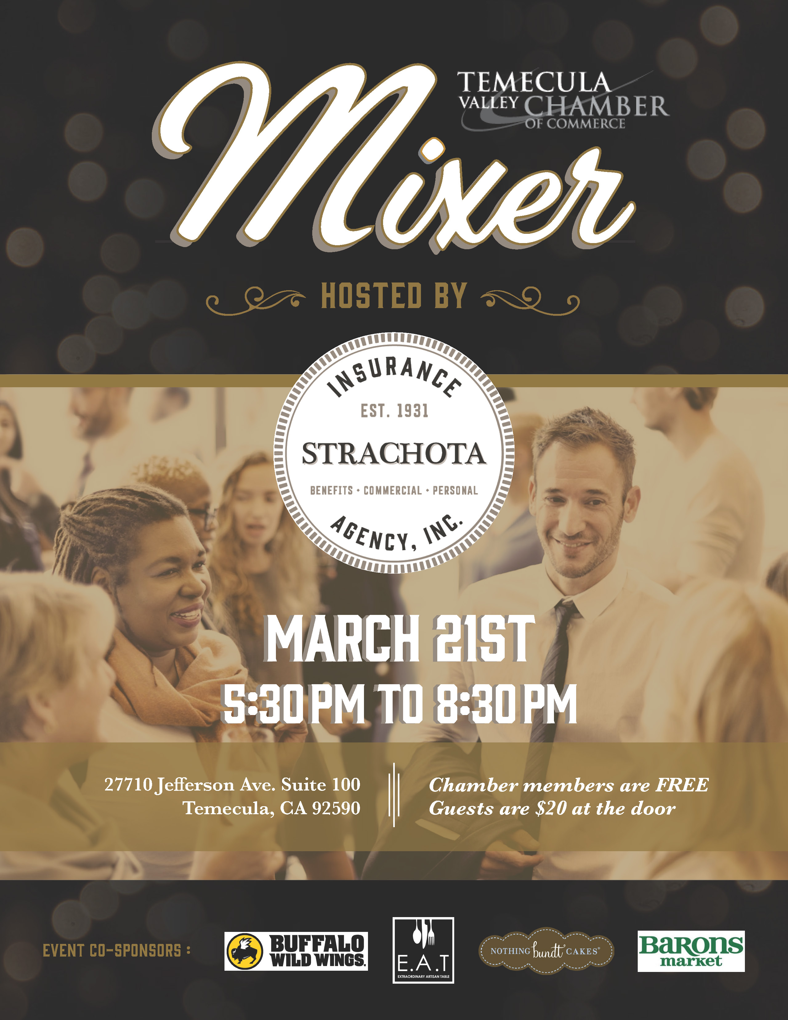 March Mixer @ Strachota Insurance Agency | Temecula | California | United States