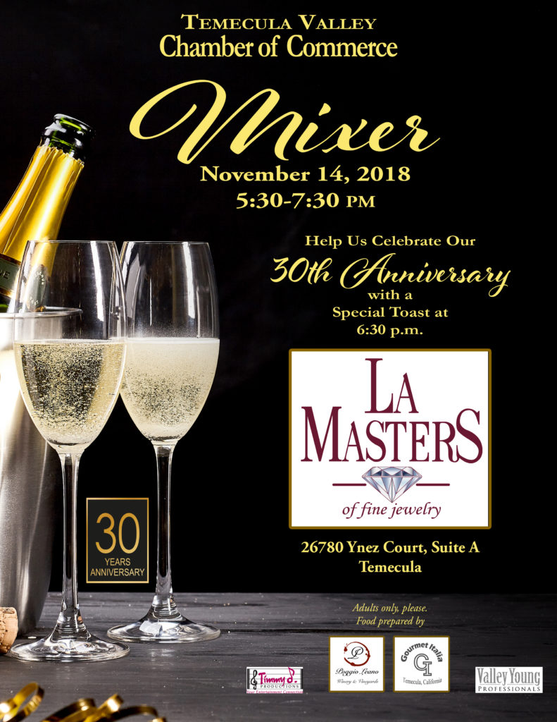 November Chamber & VYP Mixer @ La Masters of Fine Jewelry | Temecula | California | United States