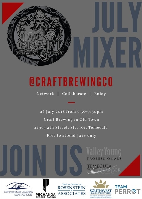 VYP Monthly Mixer @ Craft Brewing in Old Town | Temecula | California | United States