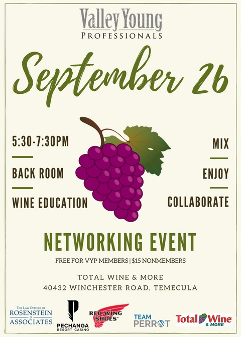 VYP Monthly Mixer @ Total Wine & More | Temecula | California | United States