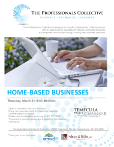 "Professionals Collective - ""Home Based Businesses"" @ Temecula Valley Chamber of Commerce 