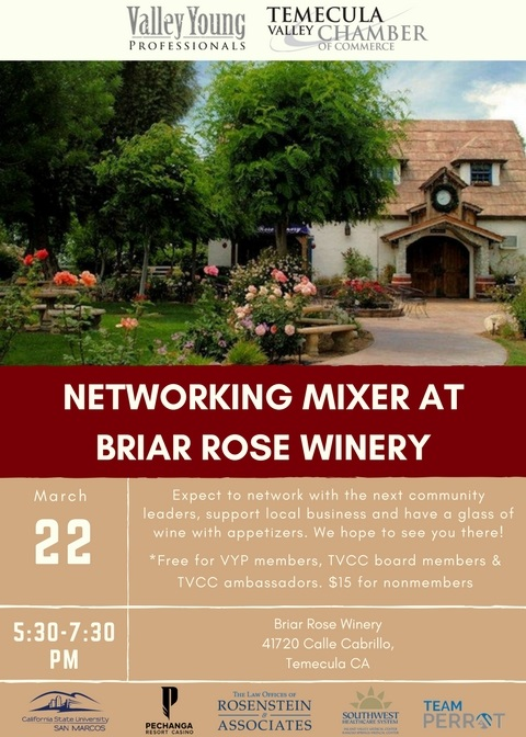 VYP Monthly Mixer @ Briar Rose Winery | Temecula | California | United States