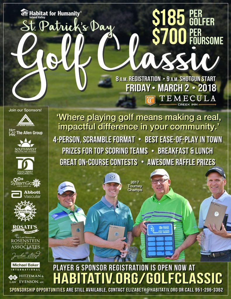 Habitat for Humanity Inland Valley St. Patrick's Day Golf Classic @ Temecula Creek Inn | Temecula | California | United States