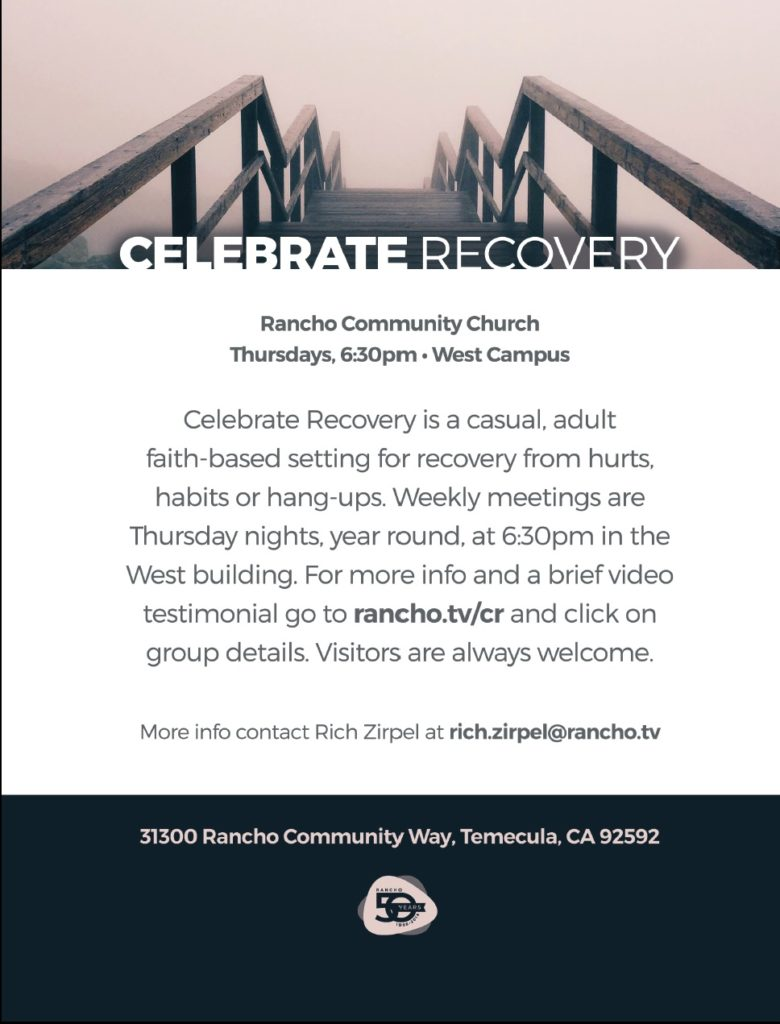 Celebrate Recovery @ Rancho Community Church West CAmpus | Temecula | California | United States
