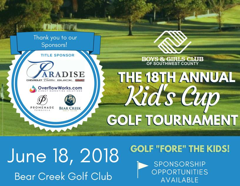 Boys & Girls Club of Southwest County 18th Annual Kid's Cup Golf Tournament @ Bear Creek Golf Club | Murrieta | California | United States