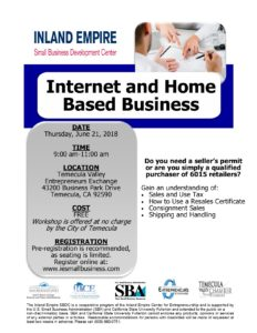 Inland Empire Small Business Development Center Internet and Home Based Business @ Temecula Valley Entrepreneurs Exchange | Temecula | California | United States