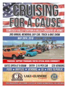 Cruising For A Cause Car Show @ Lake Elsinore | California | United States