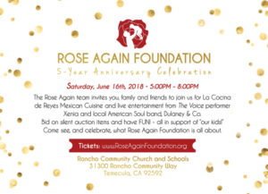 Rose Again Foundation - 5 year anniversary celebration @ Rancho Community Church and Schools | Long Beach | California | United States