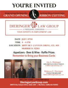 Ribbon Cutting-Dieringer Law Group @ Dieringer Law Group   Murrieta   California   United States