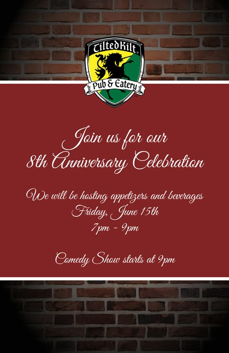 Tilted Kilt Pub & Eatery 8th Anniversary Celebration