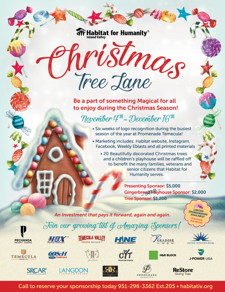 Habitat for Humanity Inland Valley Christmas Tree Lane