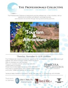Professionals Collective - Tourism & Attractions @ Temecula Valley Chamber of Commerce | Temecula | California | United States