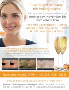 Wellness Diagnostics & MedSpa - Holiday Beauty Event! @ Wellness Diagnostics & MedSpa | Temecula | California | United States