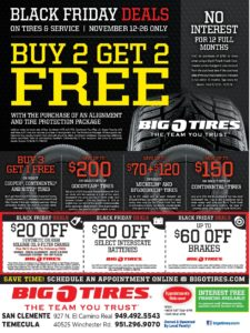 Big'O Tires Black Friday Deals @ Big O Tires | Temecula | California | United States