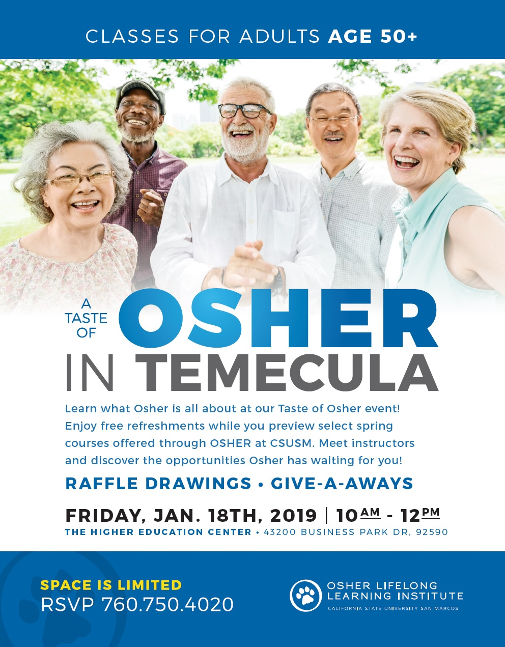 Taste of Osher in Temecula @ Higher Education Center