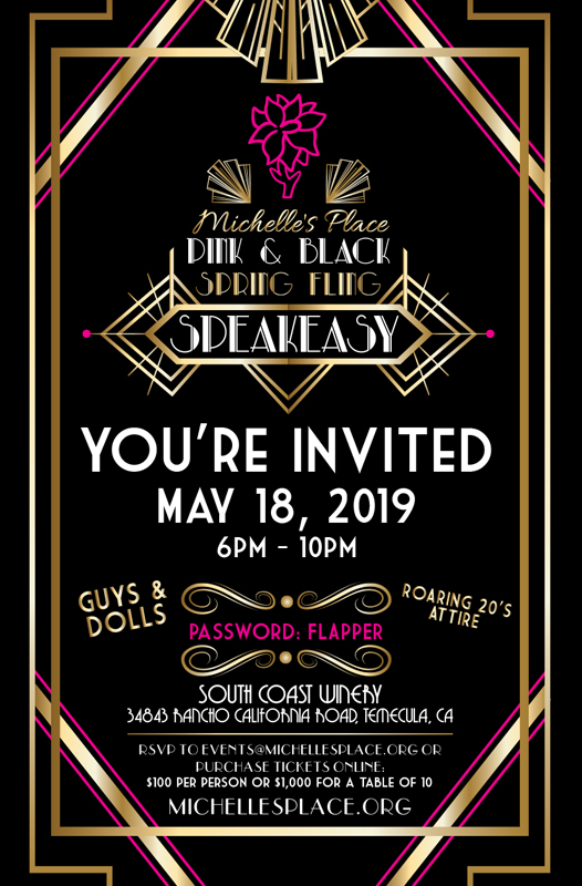 Michelle's Place - Pink & Black Spring Fling Speakeasy @ South Coast Winery