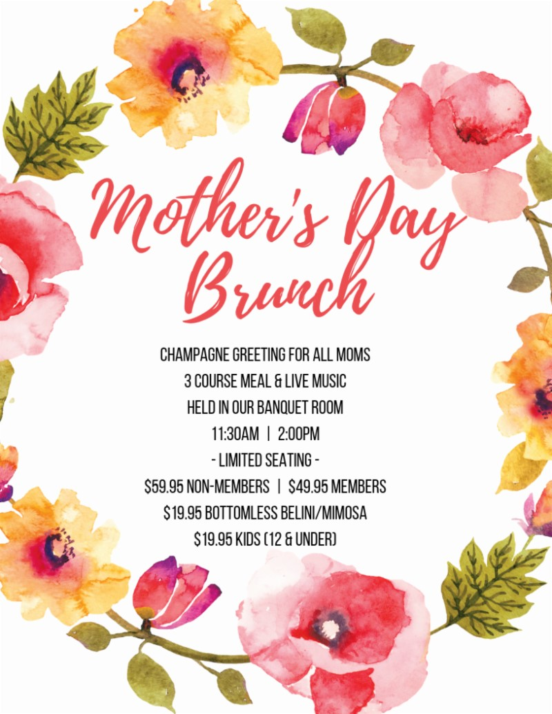 Mothers Day Brunch at Fazelis Winery