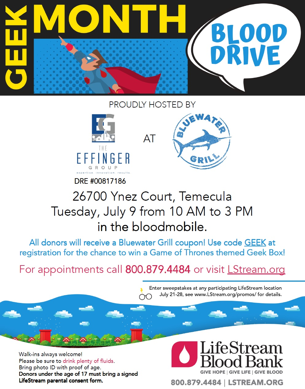 Effinger Group Blood Drive @ Bluewater Grill @ Bluewater Grill