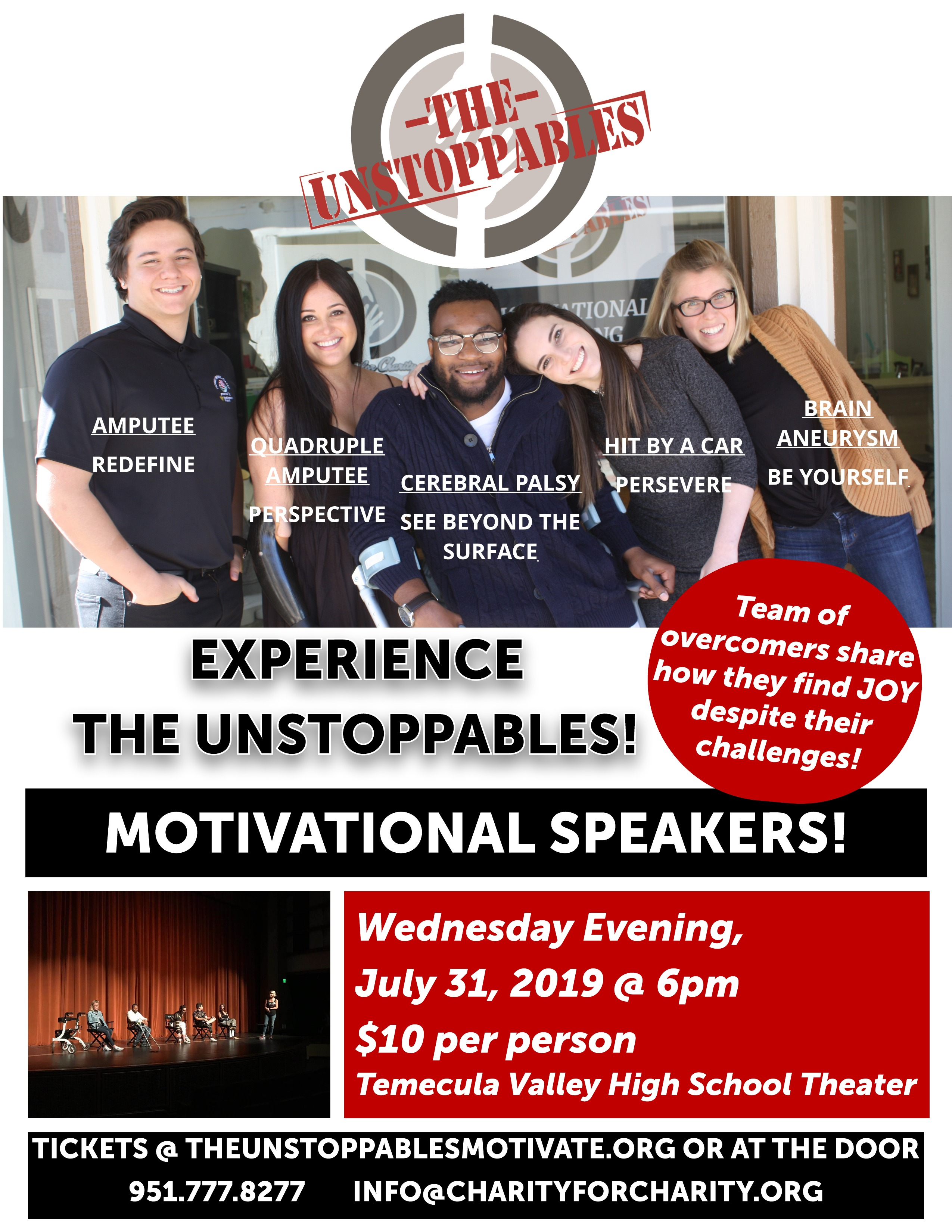 The Unstoppables - Motivated Speakers @ Temecula Valley High School Theatre
