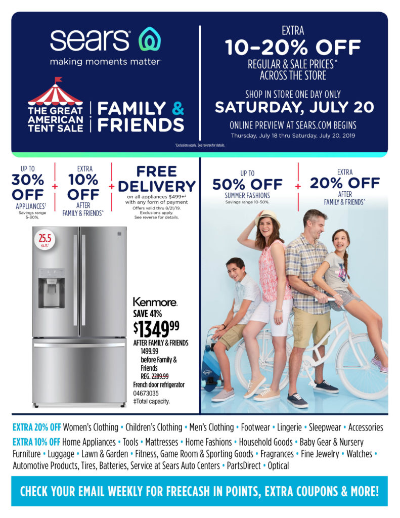 SEARS Friends & Family Event @ Sears