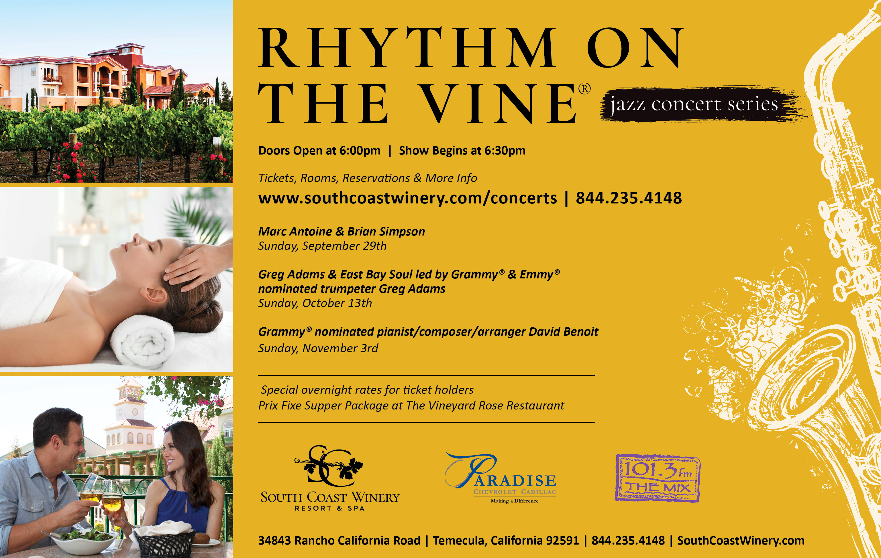 Rythym on the Vine - Concert Series @ South Coast Winery