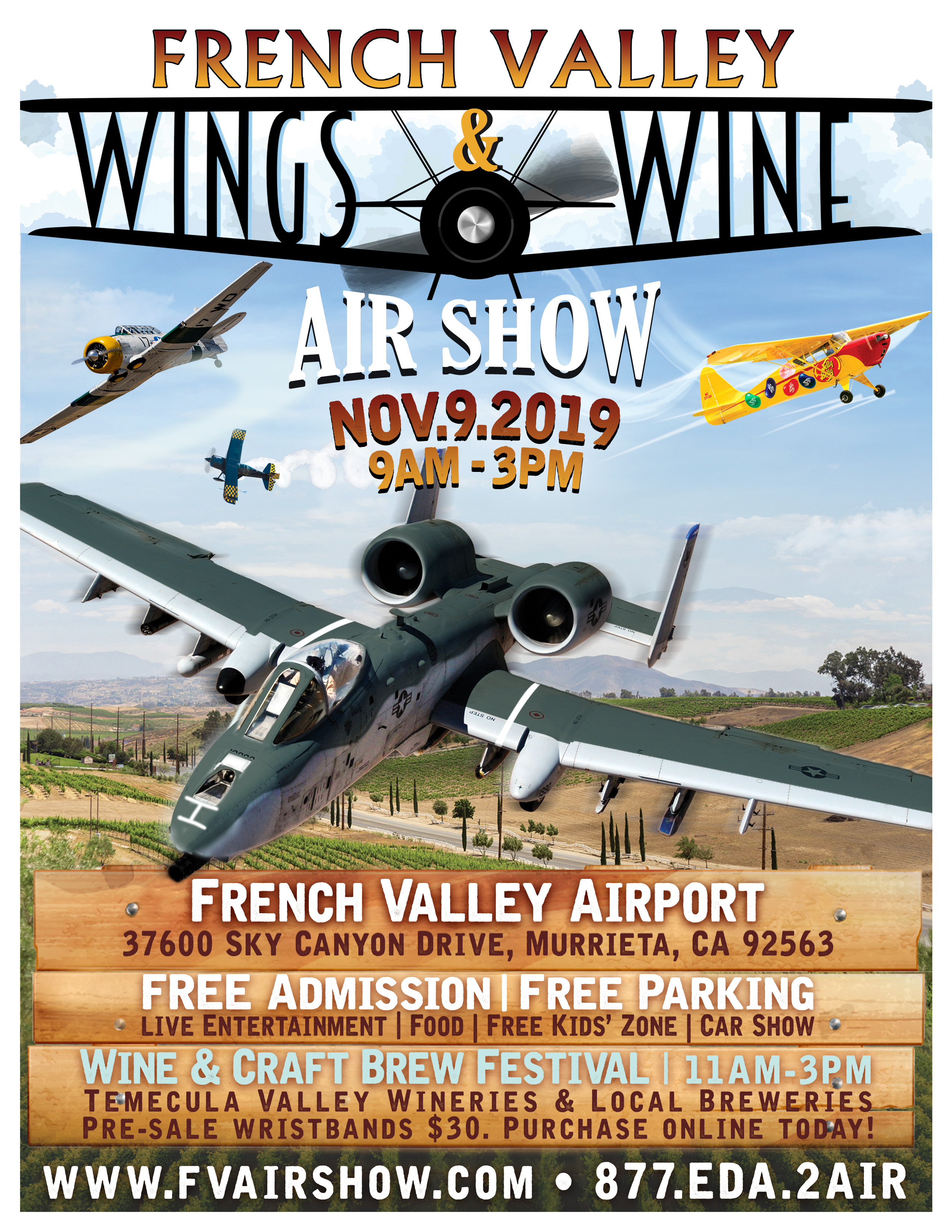 French Valley Wings and Wine Air Show @ French Valley Airport