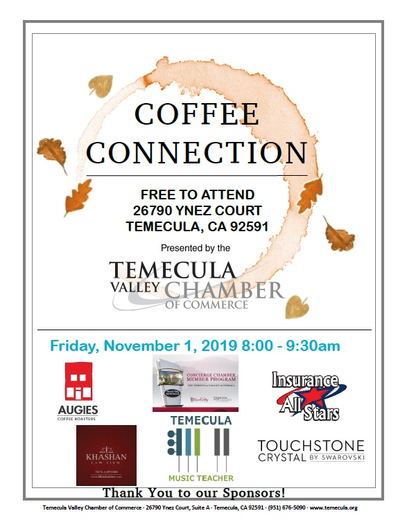 Coffee Connection @ Temecula Valley Chamber of Commerce