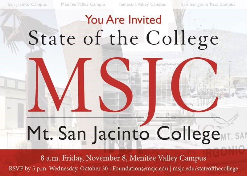 Mt. San Jacinto College - State of the College @ Menifee Valley Campus