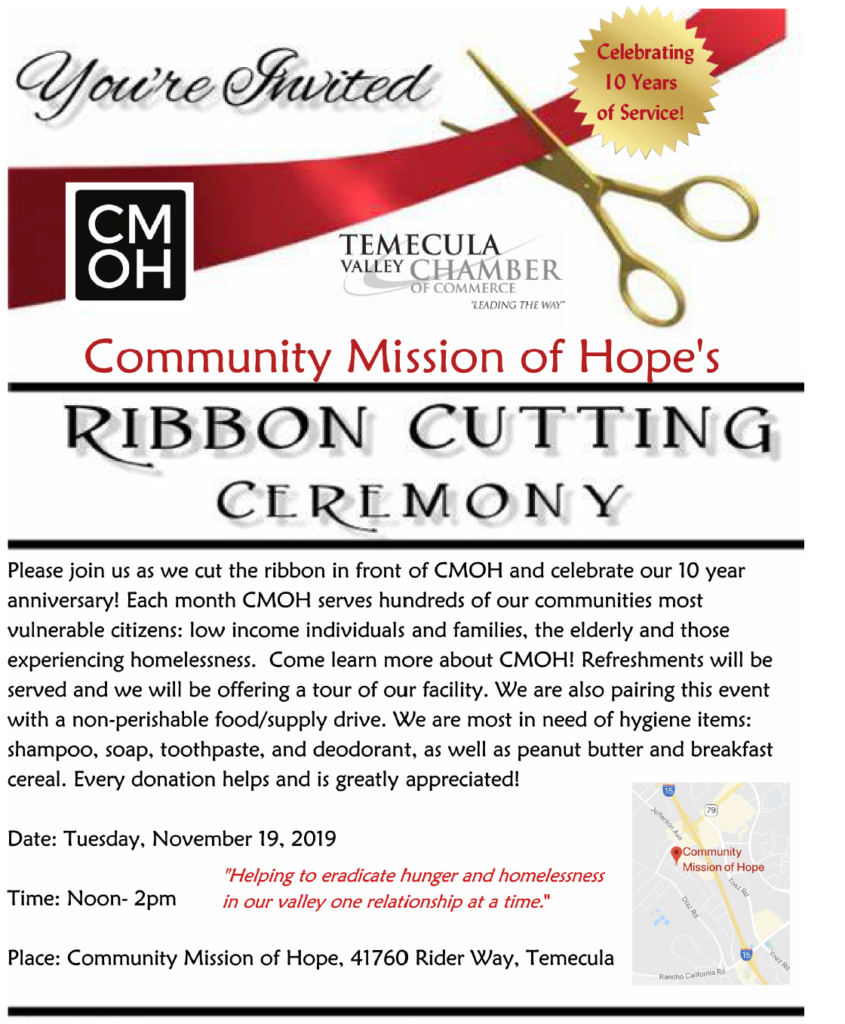 community mission of hope ribbon cutting
