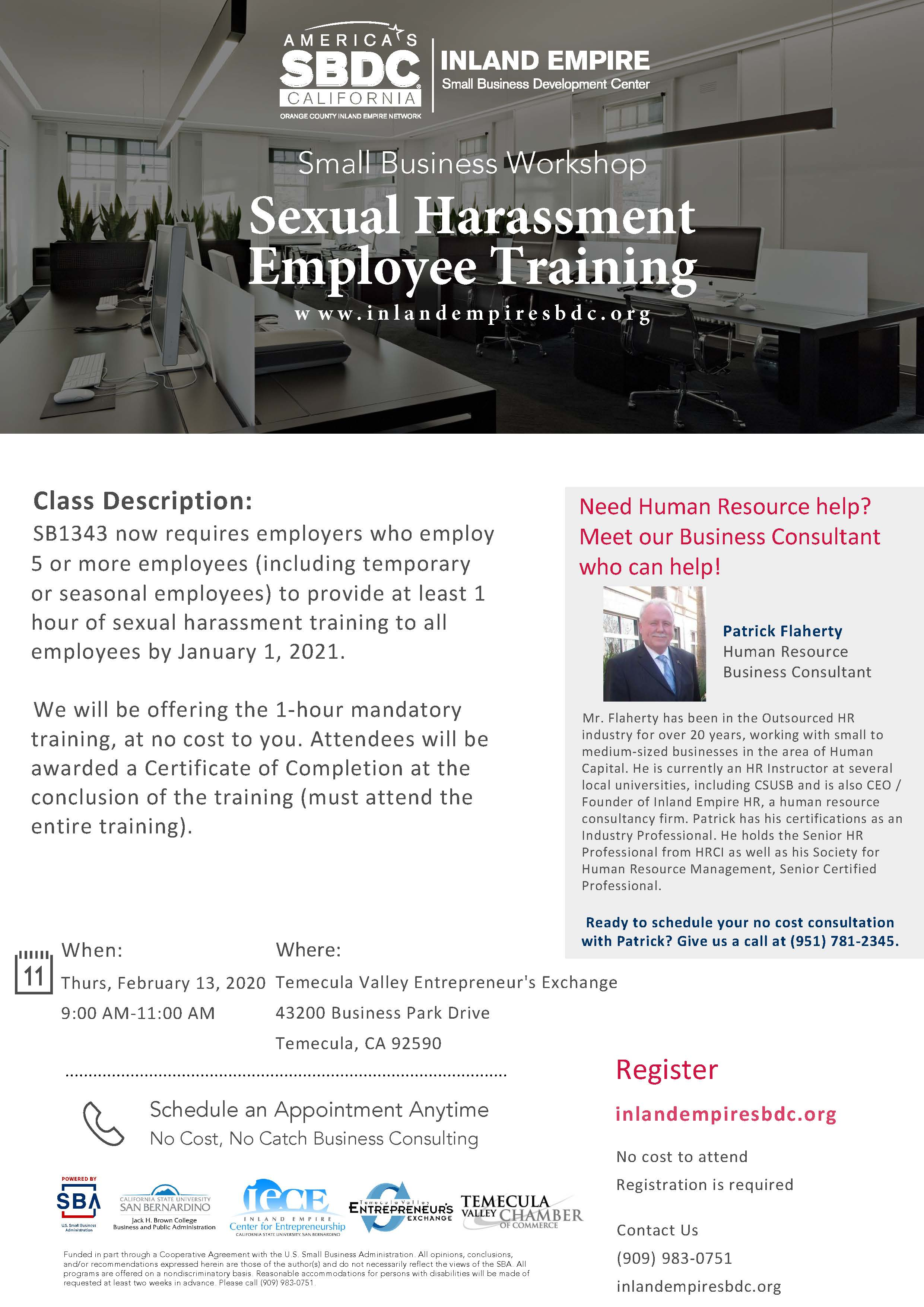 2-13 Sexual Harassment Employee Training (Temecula)