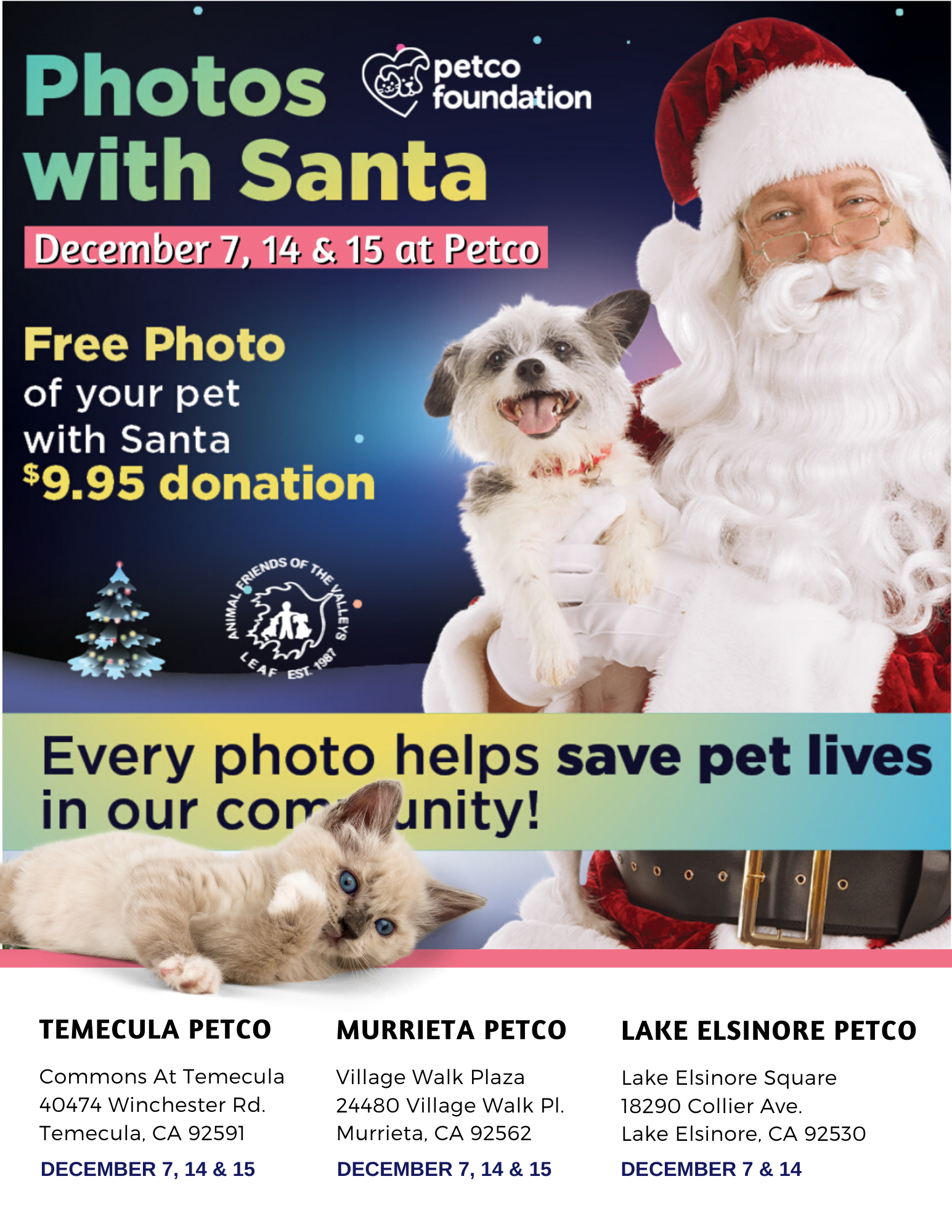 Petco Photos with Santa