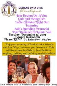 Ladies Holiday Night Out 2019 Girls Photo